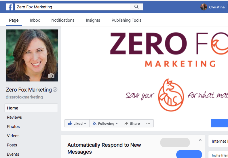Zero Fox Marketing Facebook